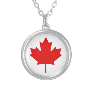 Canada Pride Rainbow Flag Silver Plated Necklace