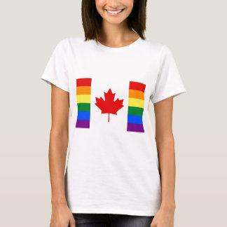 Canada Pride Rainbow Flag T-Shirt