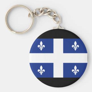 Canada Quebec Flag Basic Round Button Keychain