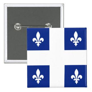 Canada Quebec High quality Flag 2 Inch Square Button