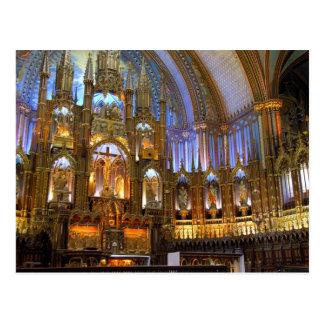 Canada,  Quebec,  Montreal. Interior of Notre Postcard