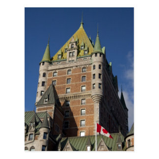 Canada, Quebec, Quebec City. Fairmont Chateau Postcard