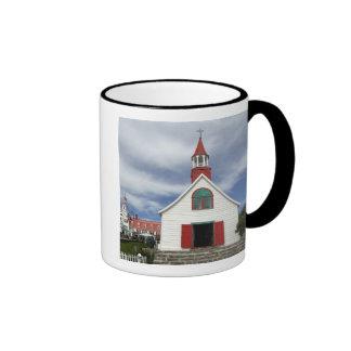 Canada,  Quebec,  Tadoussac. Petite Chapelle, Ringer Coffee Mug