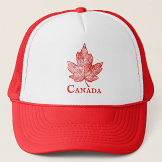 Canada Red Maple Leaf Art Souvenir Trucker Hat