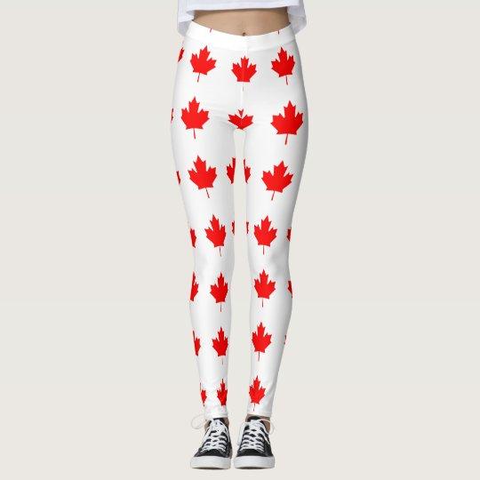 Canada Red Maple Leaf Leggings