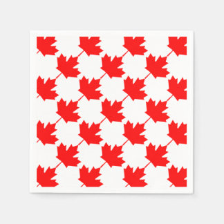 Canada Red Maple Leaf Pattern Paper Napkins