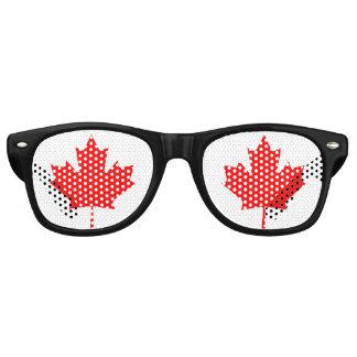 Canada Red Maple Leaf Retro Sunglasses