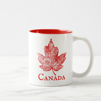 Canada Red Maple Leaf Skeleton Souvenir Mug
