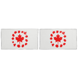 Canada Red Maple Leaves Unique Pillowcase