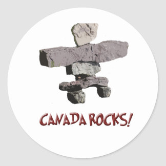 canada rocks! classic round sticker