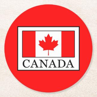 Canada Round Paper Coaster