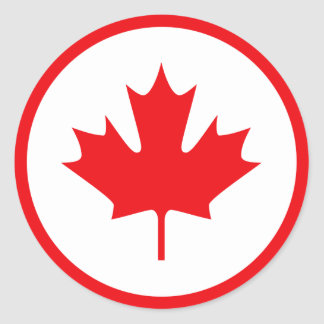 Canada Round Sticker