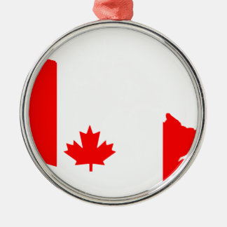Canada Silver-Colored Round Ornament