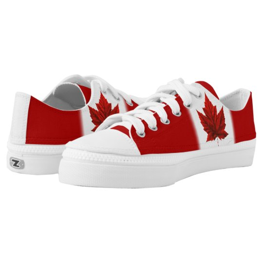 393f12037aec Canada Sneakers Canada Flag Canvas Running Shoes