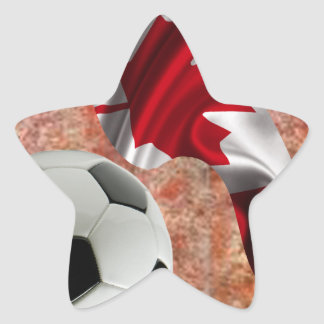 CANADA SOCCER BALL PRODUCTS STAR STICKER
