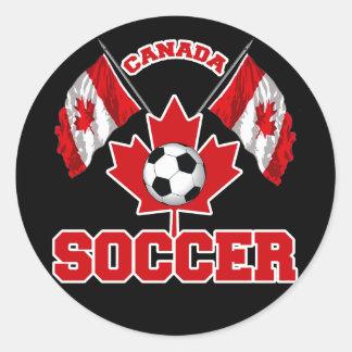 CANADA SOCCER CLASSIC ROUND STICKER