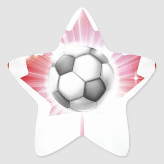 Canada soccer flag stickers