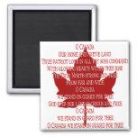 Canada Souvenir Fridge Magnet Canada Anthem Magnet