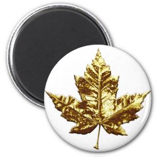 Canada Souvenir Fridge Magnet Gold Maple Leaf Gift