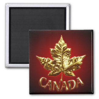 Canada Souvenir Fridge Magnet Gold Maple Leaf Gift