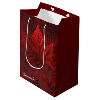 Canada Souvenir Gift Bags Canada Maple Leaf Bag
