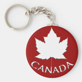 Canada Souvenir Key Chain Red & White Maple Leaf