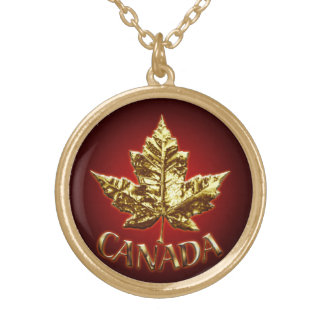 Canada Souvenir Necklace Canada Gold Maple Leaf
