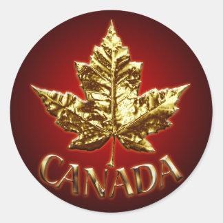 Canada Souvenir Stickers Gold Maple Leaf Stickers