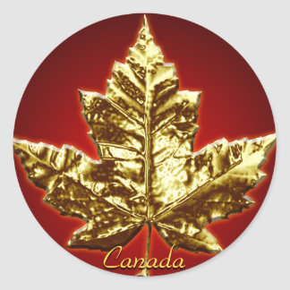 Canada Souvenir Stickers Gold Maple Leaf Stickers