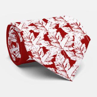 Canada Souvenir Tie Red Retro Winter Canada Tie