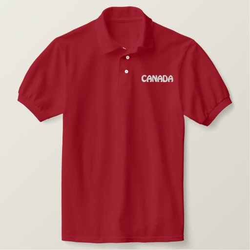Canada sports polo shirt souvenir golf shirt for Custom polo shirts canada