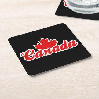 Canada Square Paper Coaster