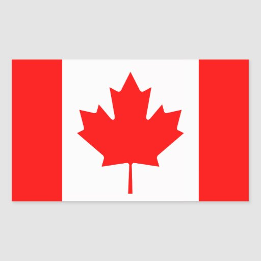 Canada Rectangle Stickers