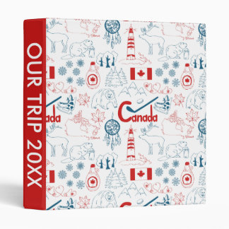 Canada | Symbols Pattern 3 Ring Binder