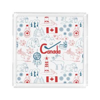 Canada | Symbols Pattern Acrylic Tray