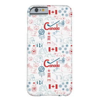 Canada | Symbols Pattern Barely There iPhone 6 Case