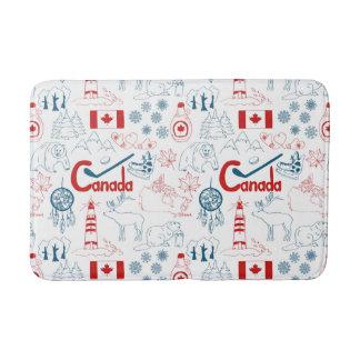 Canada | Symbols Pattern Bath Mat