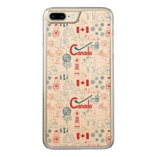 Canada | Symbols Pattern Carved iPhone 7 Plus Case