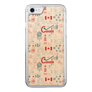 Canada | Symbols Pattern Carved iPhone 8/7 Case