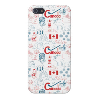 Canada | Symbols Pattern Case For iPhone 5/5S