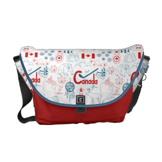 Canada | Symbols Pattern Courier Bags
