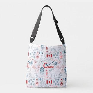 Canada | Symbols Pattern Crossbody Bag