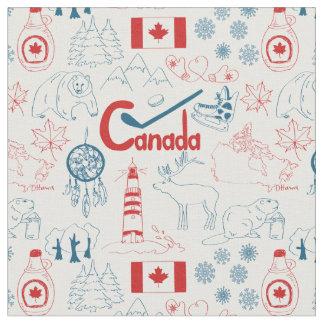 Canada | Symbols Pattern Fabric