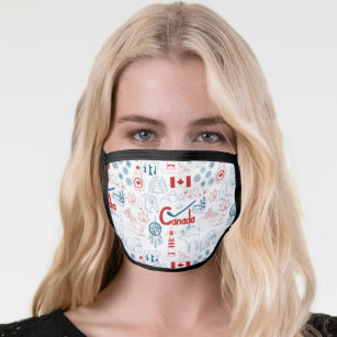 Canada   Symbols Pattern Face Mask