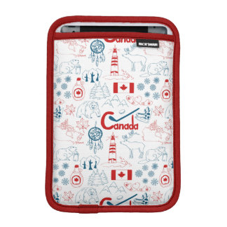 Canada | Symbols Pattern iPad Mini Sleeve