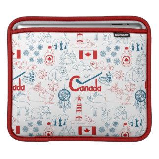 Canada   Symbols Pattern iPad Sleeve