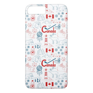 Canada | Symbols Pattern iPhone 8 Plus/7 Plus Case
