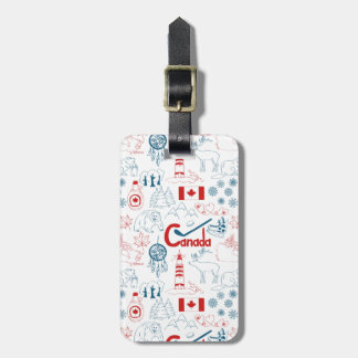 Canada | Symbols Pattern Luggage Tag