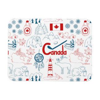 Canada   Symbols Pattern Magnet