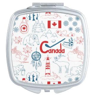Canada | Symbols Pattern Makeup Mirror